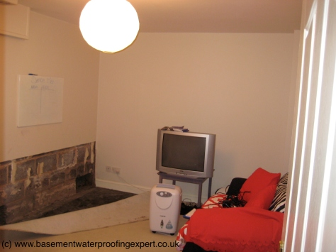 Opening up undertaken internally prior to our attendance, note the tell-tale dehumidifier.