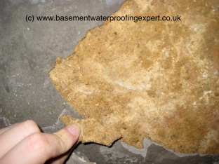 polymer modified cementitious tanking slurry fail